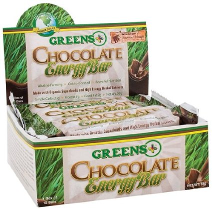 Greens chocolate energy bar