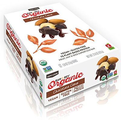 Box of Paleo Raw Revolution Bars, Organic Chocolate Crave Flavor