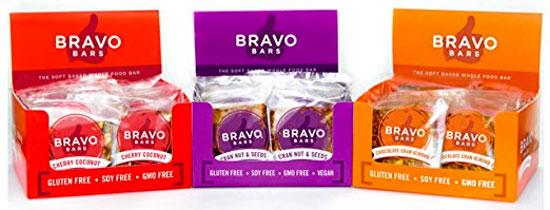 Bravo Bars in 3 Flavors, Gluten-Free, Soy-Free, Non-GMO
